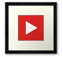 Play Button Framed Print