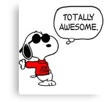 Joe Cool Snoopy Canvas Print