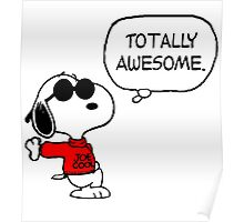 Joe Cool Snoopy Poster