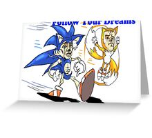 Sonic and Tails Greeting Card