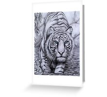 """Tiger blue"" Greeting Card"