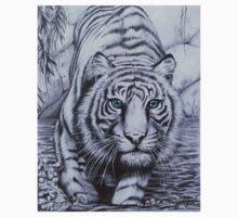 """Tiger blue"" Baby Tee"