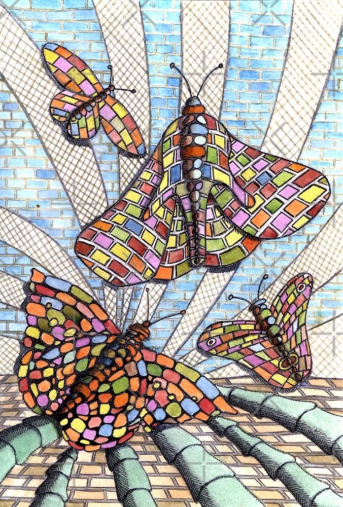 227 - BRICKERFLIES – WATERCOLOUR, INK & PENCIL -  by BLYTHART