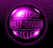 Harley Davidson Orb Purple  by Sookiesooker