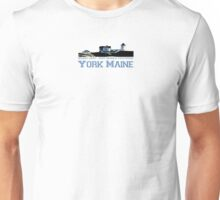 York Harbor Beach. Unisex T-Shirt