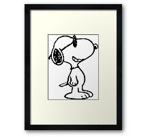 Snoopy Cool Framed Print