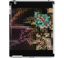 SUPERBOWL art, MODERN, ABSTRACT, multicolored pixel art, flipped photo iPad Case/Skin