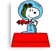 Space Snoopy Canvas Print
