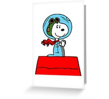 Space Snoopy Greeting Card