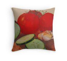 Fresh Veggies Throw Pillow