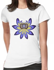 Blue / purple Lotus flower Womens Fitted T-Shirt