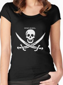 Pirate Flag - Anon-Email Women's Fitted Scoop T-Shirt