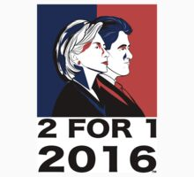 Hillary Clinton T-Shirt by 2for12016