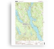 Maine USGS Historical Map Bridgton 104965 2000 24000 Canvas Print
