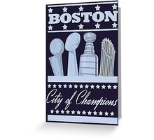 Boston - City of Champions (Silver) Greeting Card