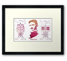 Nikola Tesla - Apparatus for aerial transportation Framed Print