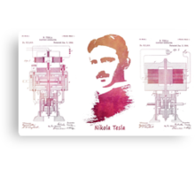 Nikola Tesla - Apparatus for aerial transportation Canvas Print