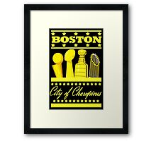 Boston - City of Champions (Gold) Framed Print