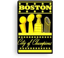 Boston - City of Champions (Gold) Canvas Print