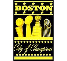 Boston - City of Champions (Gold) Photographic Print