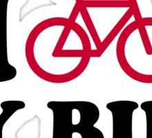 I love my bike Bicycle Sticker
