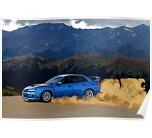 Subaru WRX STi Drifting in the Dirt Poster