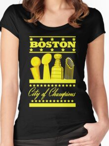 Boston - City of Champions (Gold) Women's Fitted Scoop T-Shirt