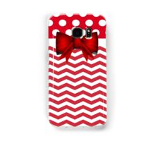 Chevron Red Bow Polka Dots Iphone/Samsung Galaxy Case/Skins Samsung Galaxy Case/Skin
