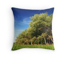 Beaufort trees Throw Pillow