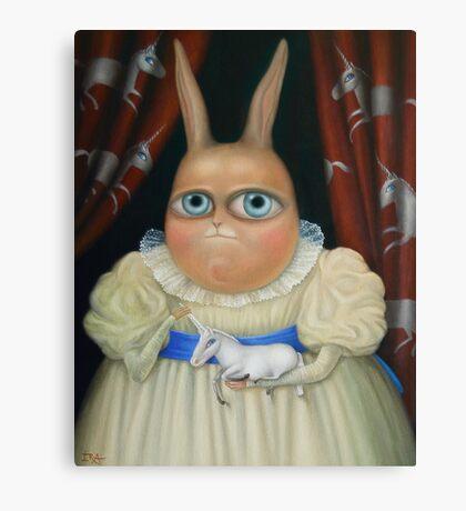 "Illusory correlation 31"" x 24"".  Original Painting - Request Price Canvas Print"