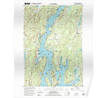Maine USGS Historical Map Bristol 104967 2000 24000 Poster
