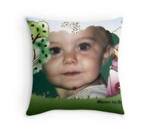 A Precious Little Flower Throw Pillow