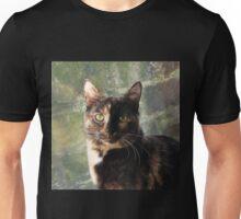 Tortoiseshell cat looking at camera Unisex T-Shirt