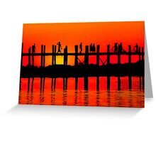 MANDALAY SUNSET Greeting Card