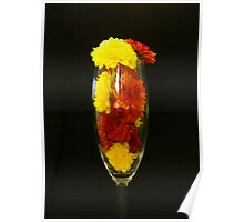 A Glass of Fall Flowers... Poster