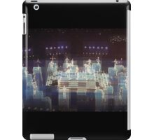 Electric blue, halftime Superbowl 2015, abstract modern, panoramic,  flipped photo iPad Case/Skin