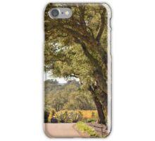 Drive through the vineyard iPhone Case/Skin