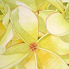 Lemon Yellow Frangipani by joeyartist