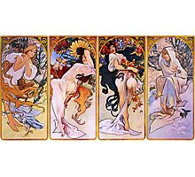'The Four Seasons' by Alphonse Mucha (Reproduction) Photographic Print
