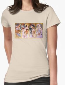 'The Four Seasons' by Alphonse Mucha (Reproduction) T-Shirt