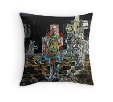 HALFTIME, the tin man abstract, flipped photo Throw Pillow