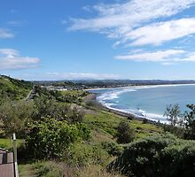 Lennox Head Coastline, from the board walk. N.S.W. Nth. Coast. by Rita Blom