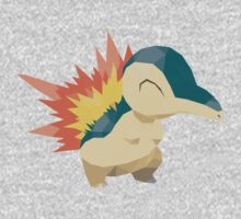 Cyndaquil Low Poly Kids Tee