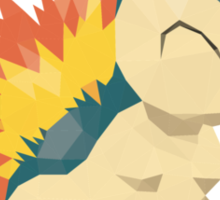 Cyndaquil Low Poly Sticker