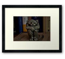 literary gargoyle Framed Print