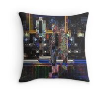 SUPERBOWL halftime 2015, Lenny Kravitz ART, flipped photo abstract Throw Pillow