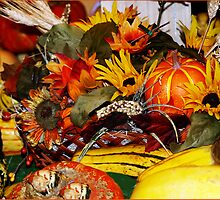Fall Flowers and Winter Squash by Memaa