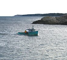 Lobster Boat Returning Home by HALIFAXPHOTO