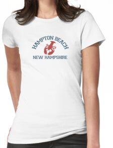 Hampton Beach. Womens Fitted T-Shirt