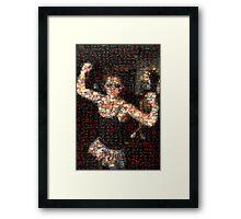 Johnny Kicks Framed Print